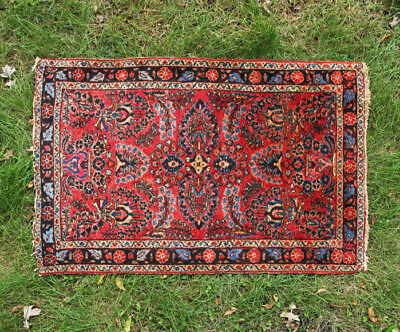 "Vintage Persian Rug Hand Knotted 30"" x 47"""