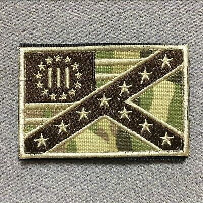 3% Three Percent The Southern Civil War Military Tactical Morale Patch Badge