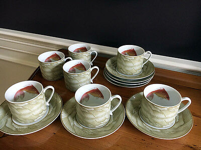Mottahedeh Waterdance Tea Cup & Saucer - Set of 6 *NEW*