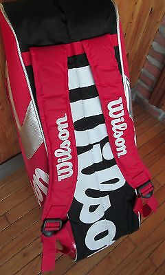 Large WILSON K factor Pro Tour - BackPack - excellent condition - 8 pack