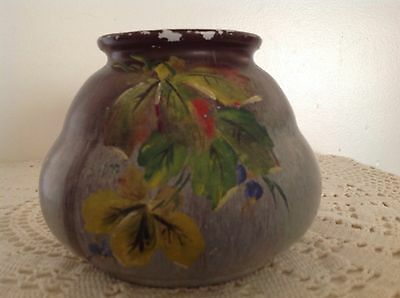 Bendigo Pottery Vase With Hand Painted Design