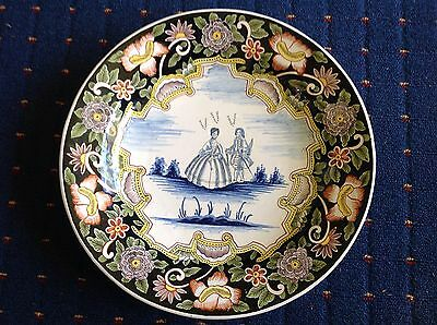 BEAUTIFUL 37cm DELFT POLYCHROME CHARGER - AK (ADRIANUS KOCKS) ?