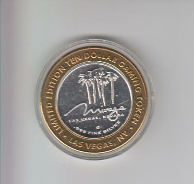 Mirage Casino .999 Fine Silver Limited Edition Gaming Token A1
