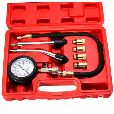 Automotive Petrol Engine Cylinder Compression Tester Kit Valve Timing Gauge Tool