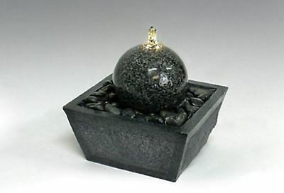 Illuminated Relaxation Fountain with Granite Ball and Natural Stones