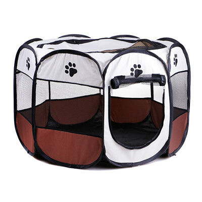 3 Colors Portable Folding Pet Tent House Cage Puppy Dog Kennel Octagonal Fence