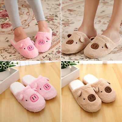 Women Slippers Pig Cute Cotton Home Slippers Shoes Winter Warm Indoor Slippers