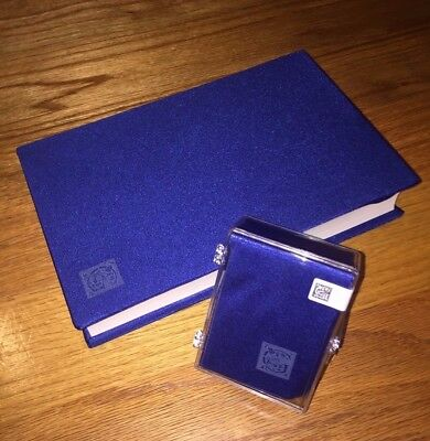 1 x NIB Premium JUMBO Stretchable Fabric Book Cover Solid Blue 9x11 or Larger !