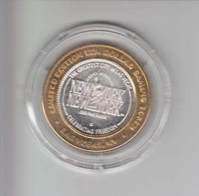 New York New York Casino .999 Fine Silver Limited Edition Gaming Token A2