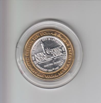 New York New York Casino .999 Fine Silver Limited Edition Gaming Token A3