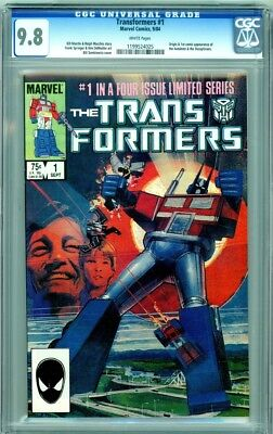 Transformers 1 CGC Graded 9.8 NM/MT White Pages Marvel Comics 1984