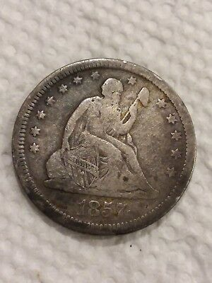 1857 Seated Liberty Quarter Dollar