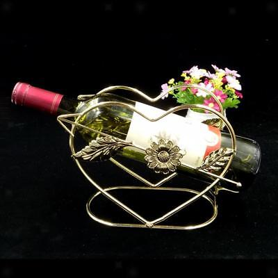 Retro Metal Wire Red Wine Rack Champagne Bottle Holder Storage Shelf Golden