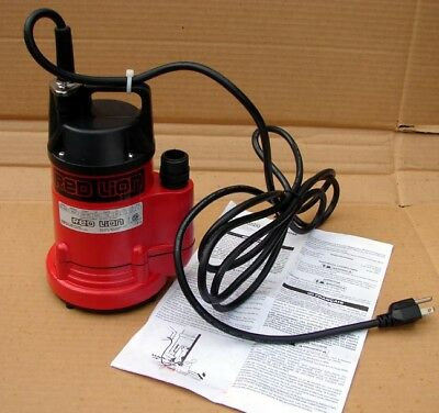New Red Lion 1/6 Hp Submersible Utility Pump Rl-160U