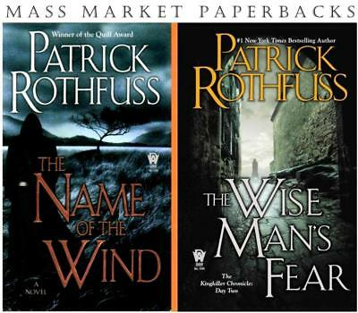 Kingkiller Chronicles Series Collection Set Books 1-2 by Patrick Rothfuss