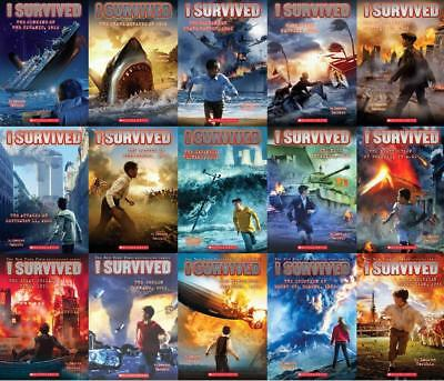 I Survived Series Collection Set 1-15 Paperback by Lauren Tarshis Brand New
