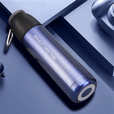 Stainless Steel Vacuum Insulated Flask Thermal Thermos Sports Water Bottle 500ML