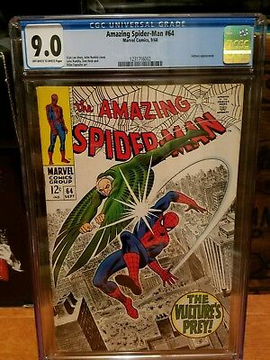 Amazing Spider-man # 64 CGC 9.0 OW/ White pages