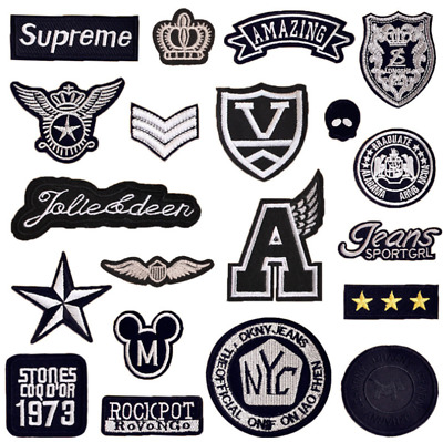 DIY Embroidered Metal Rock Punk Retro Patch Music Band Sew Iron On Badge Patch