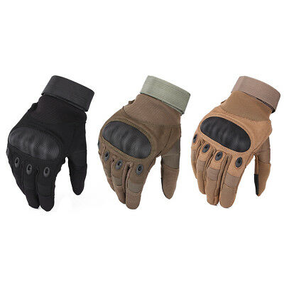 Touch Screen Full Finger Motorcycle Gloves Cycling Racing Bike Protective Armor