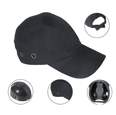 54424f61be45f Black Baseball Bump Caps - Lightweight Safety hard hat head protection Caps