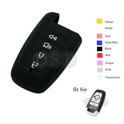 Silicone Cover fit for HONDA Smart Remote Key Case 4 Buttons Panic Hollowed BK