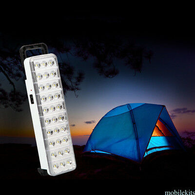 Handy 30 LED Rechargeable Emergency Light Lamp Home Safety Camping Flashlight