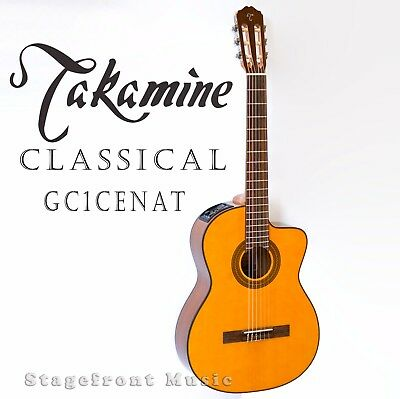 Takamine Gc1Ce Acoustic-Electric Classical Guitar  Venetian Cutaway