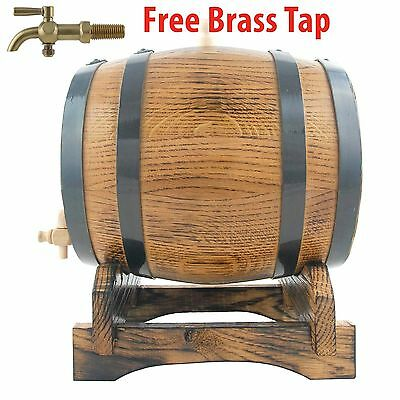 Oak Barrel 5Lt Rustic Keg Age Alcohol HomeBrew Bourbon Whisky Fathers Day Sale