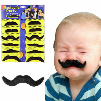 New Stick on fancy dress moustaches Tash Tashes Fake moustache Mexican lot beard