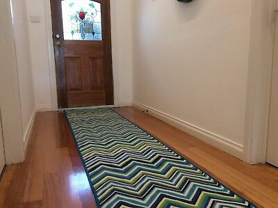 Hallway Runner Hall Runner Rug Modern Blue 6 Metres Long FREE DELIVERY 09892