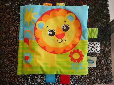 Playgro soft baby book w tabs taggies tags interactive crinkles squeaker animals