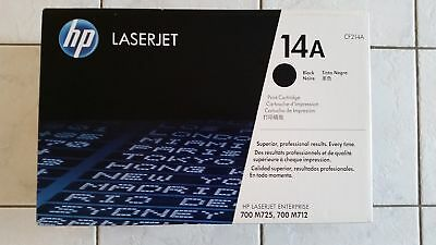 Genuine New HP 14A, CF214A BLACK TONER for LASERJET 700 MFP M725 MFP M712