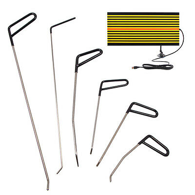 AU PDR Puller Rods Paintless Dent Repair Hail Kit Removal LED Line Board Tools