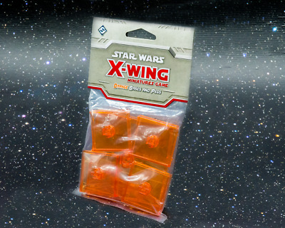 Star Wars X-Wing Miniatures Game Orange Bases and Pegs - New - Aus Stock