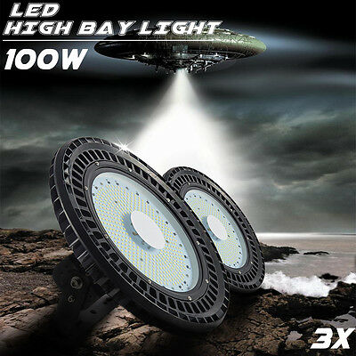 3X 100W UFO LED High Bay Light Lamp Lighting Warehouse Industrial Commercial Gym