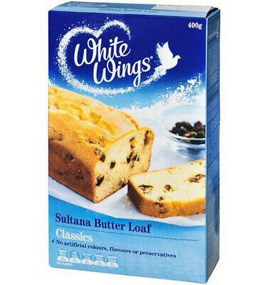 White Wings Classics Sultana Butter Loaf Cake Mix 400gm