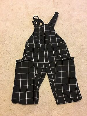 H&M Plaid Overall Size 6-7