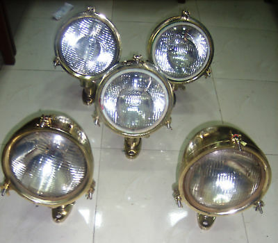 Nautical Marine New Solid Brass Polished Mini Spot Light With Stand Lot Of 5 Pcs