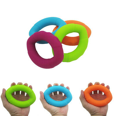 Healthy Exerciser Training Round Hand Grip Power Strength Finger Silicone Ring