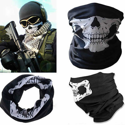 Bandana Novel Skull Bike Motorcycle Neck Face Mask Paintball Ski Headband Helmet