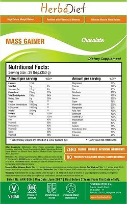 Super Mass Gainer Serious Weight Muscle Gainer PREMIUM Protein Powder Chocolate