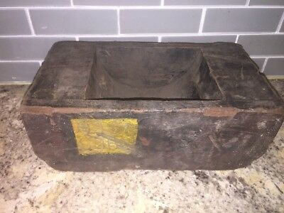 Vintage Wooden Foundry Mold Industrial Steam Punk Repurpose Rustic