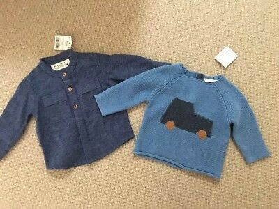 BNWT NEXT Baby Boy Winter Jumper Shirt Bundle 3-6 Months