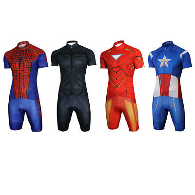 Cycling Bicycle Clothing Jersey & Padded Short Sets Heroes Series UV Protect