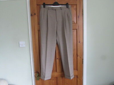 M&S northern soul / 50s twin pleated turn up trousers W 34 X L 31