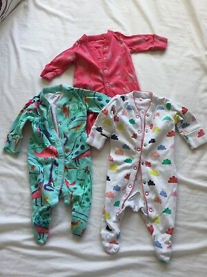Baby Girls Next Babygrow Bundle New Baby Up To 1 Month (10Lbs)