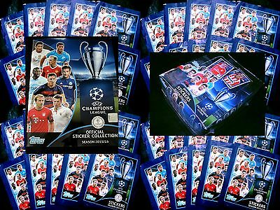 Topps CHAMPIONS LEAGUE Sticker 15/16 2015/2016 Sammelsticker Tüten Display Box