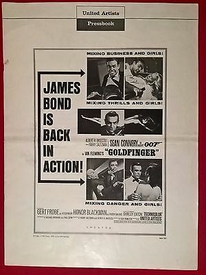 James Bond - Goldfinger  ,1964 ,original-  Press Book