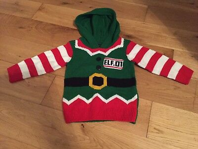 Next Boys Elf Christmas Jumper 9-12 Months Excellent Condition